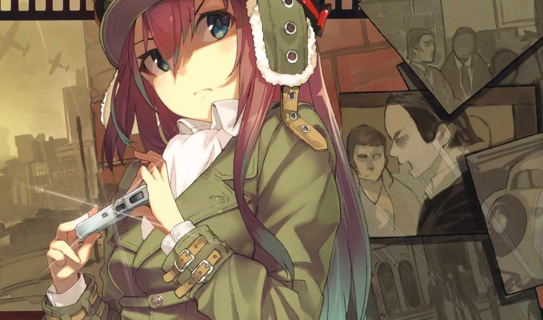 девушка, anime, free, art, форма, фотоаппарат, шпион, фотографий, город, life,