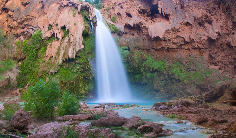 havasu, пасть, каньон, arizona, grand, водопад, usa