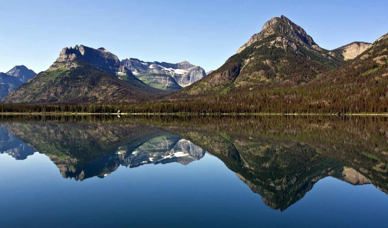 озеро, пейзаж, горы, river, computer, категория, размере, desktop, природы, прекрасными, trees, уголками,