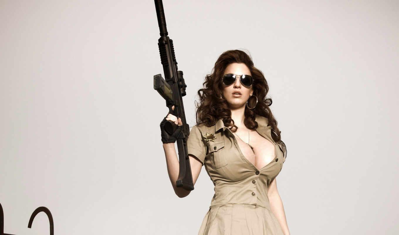 jordan, carver, girl, грудь, оружие, military, девушки, большая, автомат, hot, картинку, guns, girls,