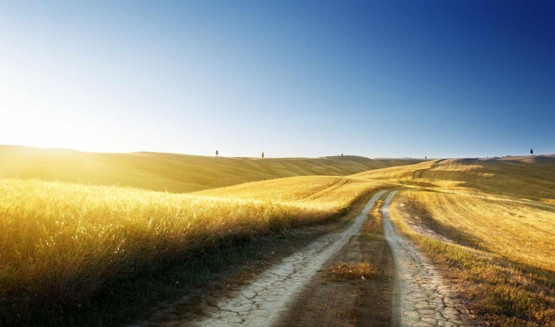 дорога, небо, природа, дороги, пейзажи, поле, картинку, картинка, twitter,