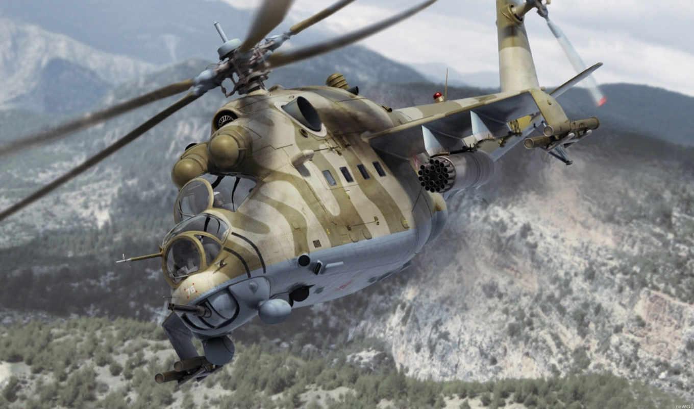 ми, hind, вертолет, супер, ми-24