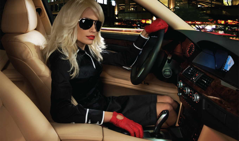 девушка, авто, за, очки, blonde, марта, рулём, интерьер,