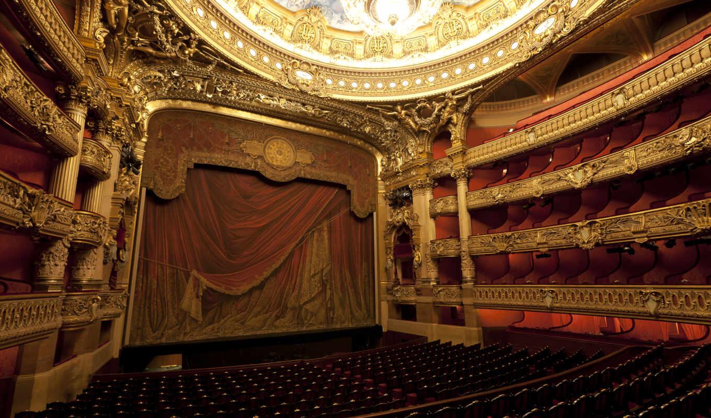 театр, curtain, architecture, франция, картинка, ожидание, garnier, париж,