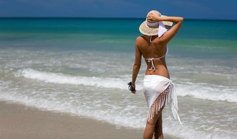 девушка, пляже, devushki,