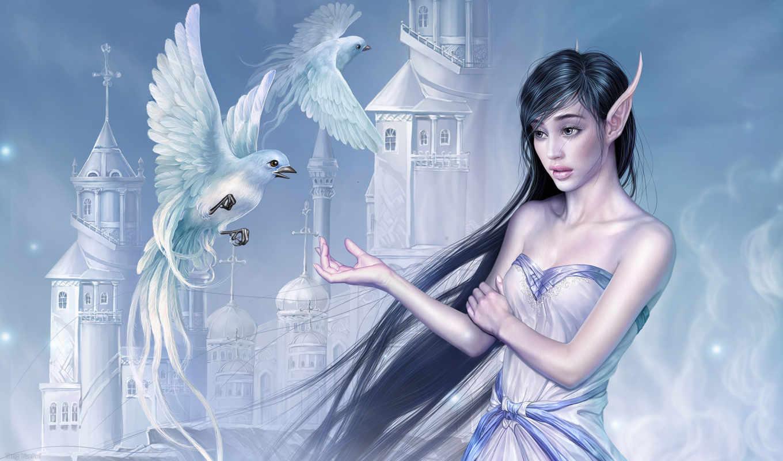 elves, fantasy, фэнтези, девушка,