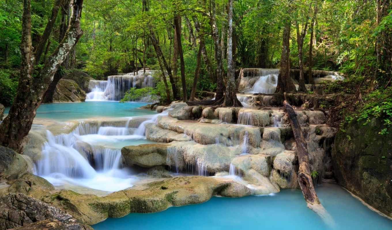 природа, водопад, очаровательная, водопады,