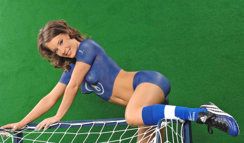 тело, art, футбола, специально, девушки, любителей, футбол,