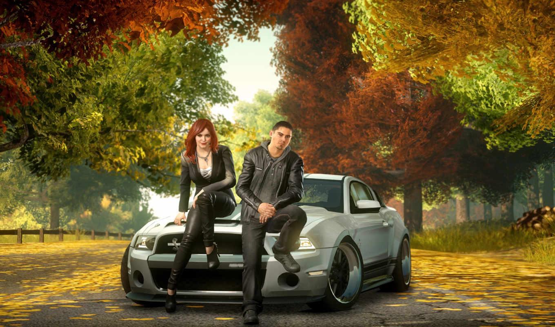 два, осень, авто, машина, nfs, need, скорость, run, машины,