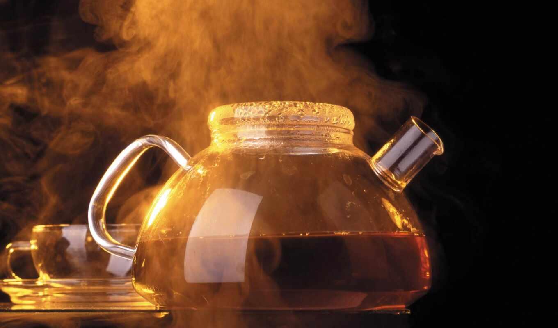 чая, hot, steam