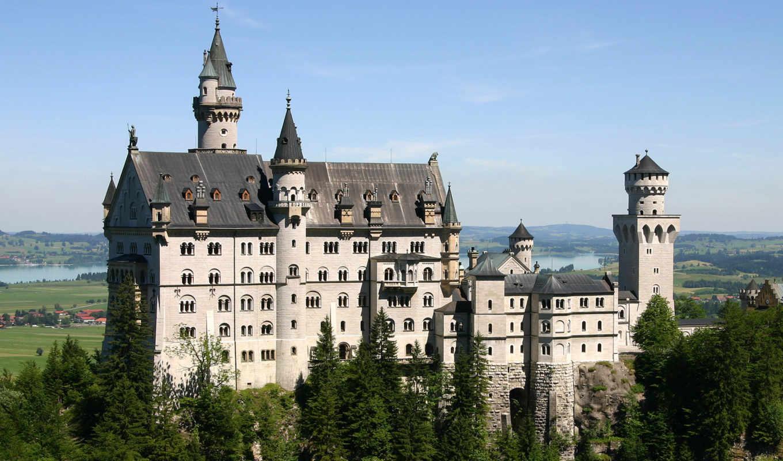 замок, нойшванштайн, castle, баварии, germany, tour, старовинний, пагорб, красивый, архитектура, schloss,