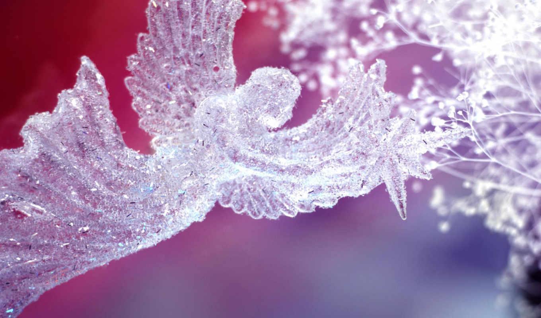 new, год, angel, christmas, crystal, взгляд,