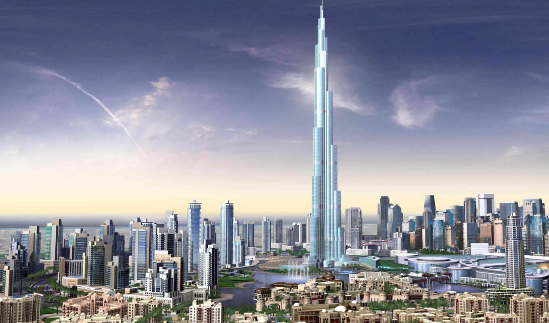 широкоформатные, дубая, здания, высотные, dubai, разрешением, дубае, бурдж, бесплатные,