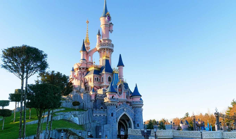 castle, disneyland, красавица