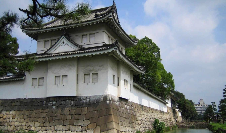 tokyo, kiotó, nijo, japan, kastély, votre, arrivée, mit,