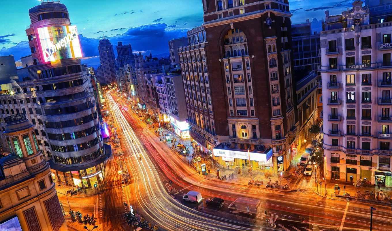 madrid, spain, ночь, телефон, мира, cityscapes, amazing, latest, категории, города,