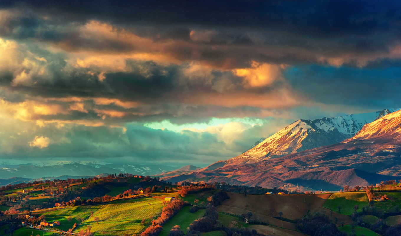 landscape, природа, хребет, italy,