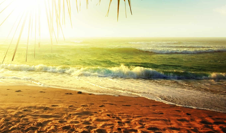 море, песок, пляж, природа,