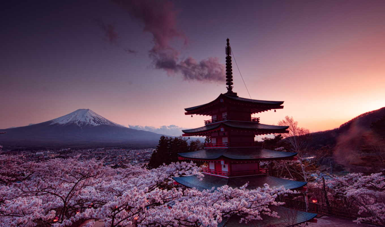 neon, sengen, arakurayama, park, дым, огни, свечение, japanese, гора, dalturekspress, narrow