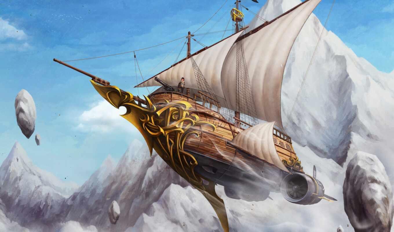 человек, паруса, камни, арт, летучий, similar, share, ship, minus,