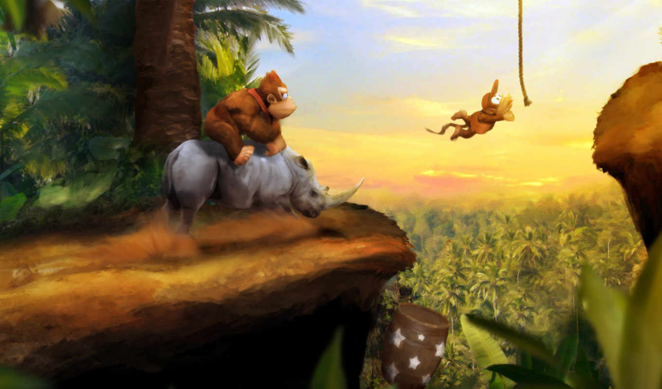 kong, donkey, country, art, games, orioto, share, game, this, video, calendar, mario,