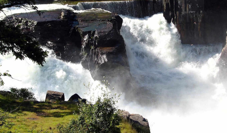 водапад, пена, камни, iphone, разрешением, collection, scenery,