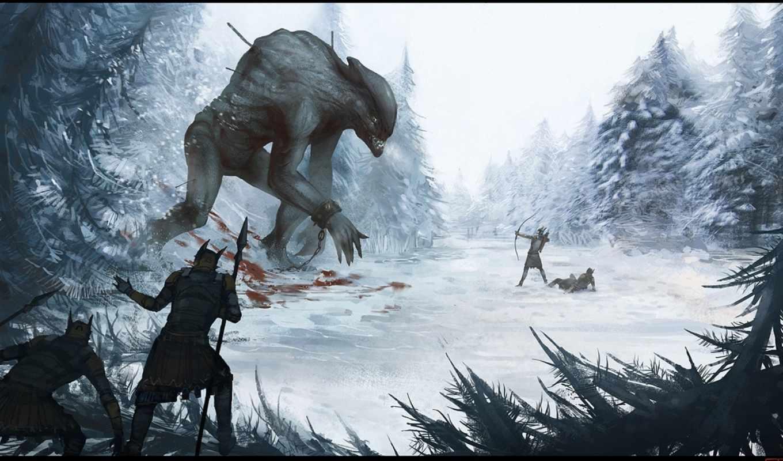 fantasy, битва, art, плакат, warhammer,