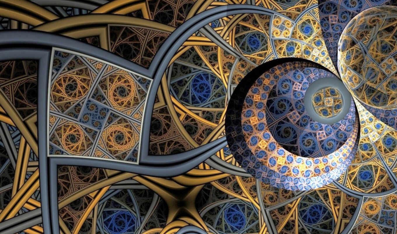 декоративный, fractal, art, ди