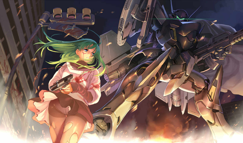 robot, girl, anime, mecha,