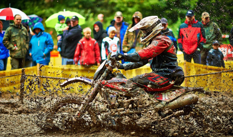 грязь, спорт, брызги, чтобы, мотоциклы,