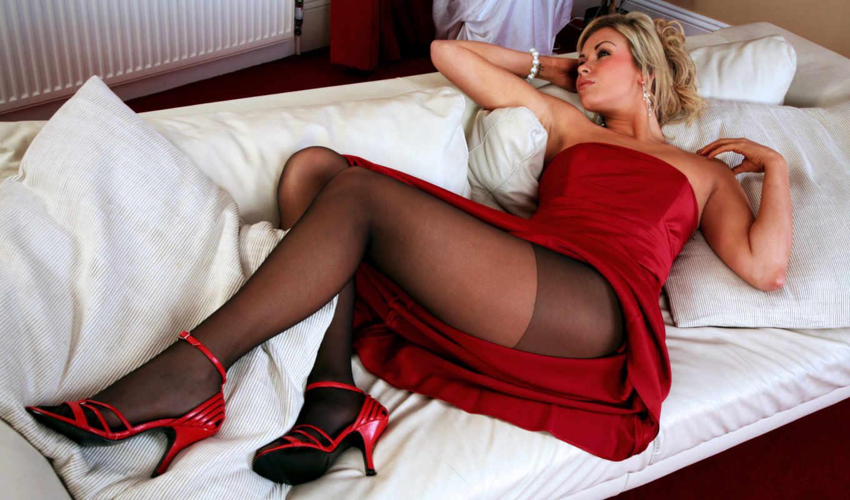 платье, ножки, leah, туфли, красные, красное, колготки, девушки,