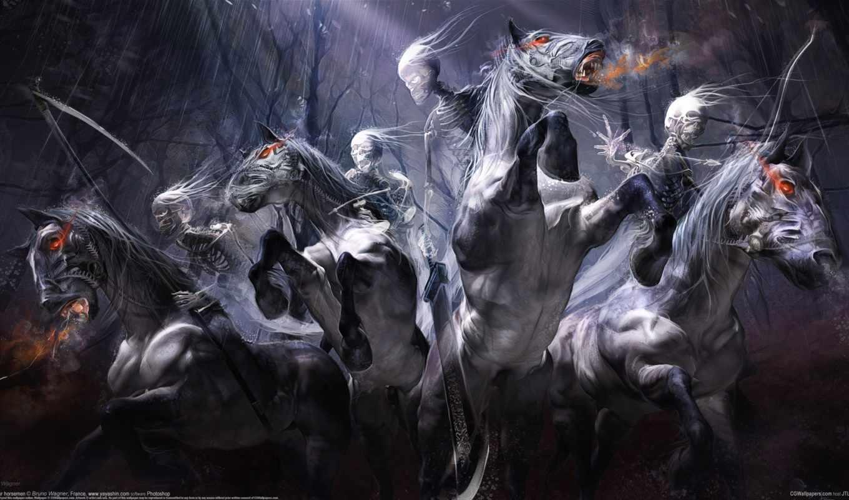 ,hunting, призраки, лошади, охота,