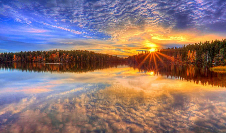 facebook, финляндия, место, закат, небо,озеро