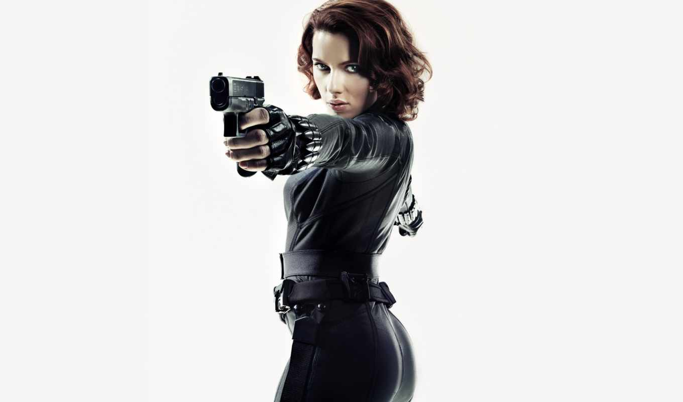 black, скарлетт, widow, johansson, avengers, marvel,