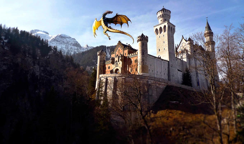 castle, июл, нойшванштайн, fantasy, драконы, дракон, schloss, июнь,