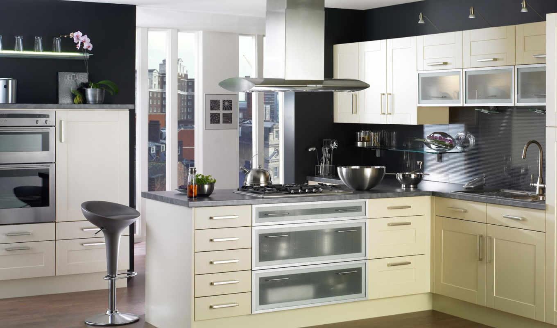 кирпич, интерьер, клееного, бруса, строительство, cozinhas, кухни, дома,