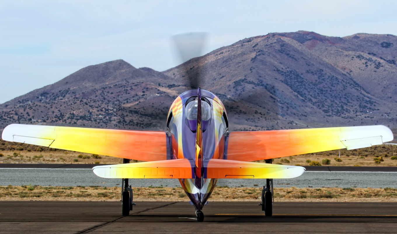 аэроплан, оранжевый,