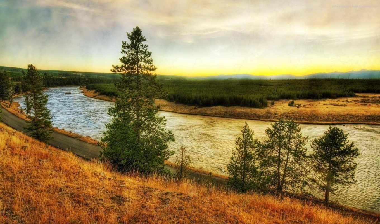 nature, montana, wyoming, реки, river, rivers, yellowstone, hdr, grass, cute, пейзаж, thiennhien,
