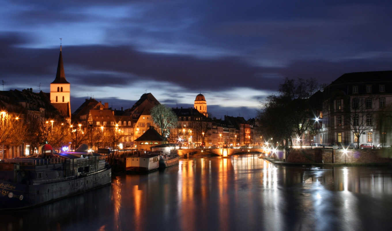 город, города, ночь, огни, ночного, услуги,