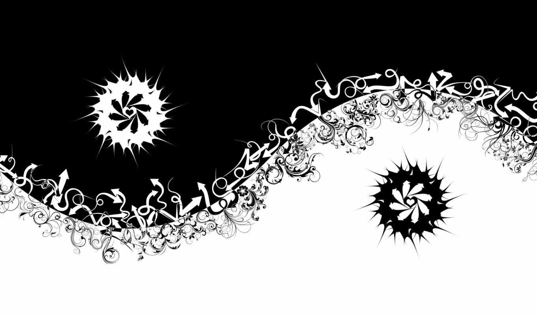 yin, стрелок, абстракция, than, янь, black, белое, darker,