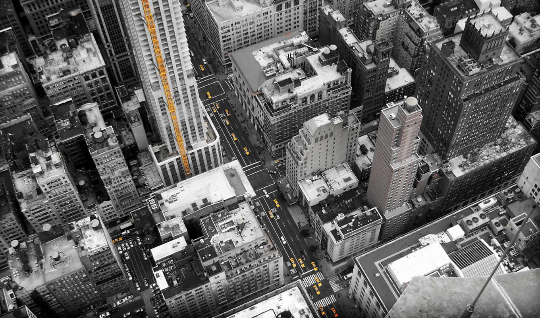 улицы, город, new, нью, york, здания, дома, йорка, улица,