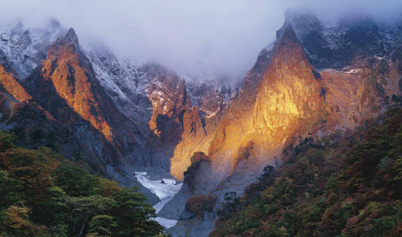 япония, winter, mount, early, tanigawadake, gumma,
