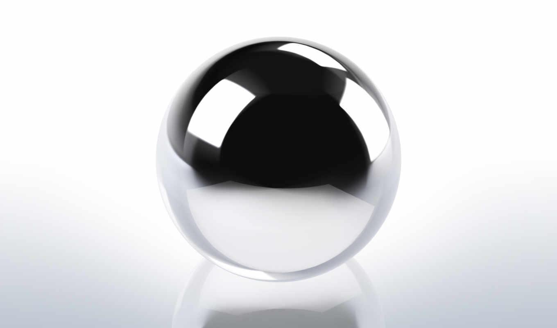 chrome, шар, planes, разрешением, сфера, хромированный, металл, нужном,
