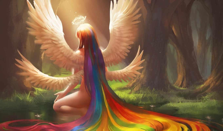 angel, крылья, девушка, art, browse,