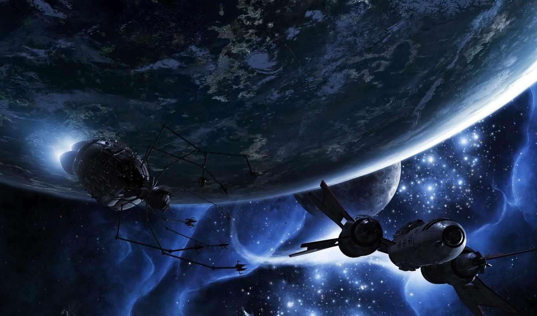 cosmos, планеты, звезды, спутник, бесплатные,
