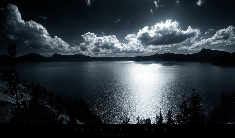 wallpaper, nature, lake, iphone, природа, облака, небо, and, hd, clouds, white, you, озеро, wallpapers, tags, picsfab, monochrome, black, lakes, west, разрешением, crater, просто, отражение, изображен