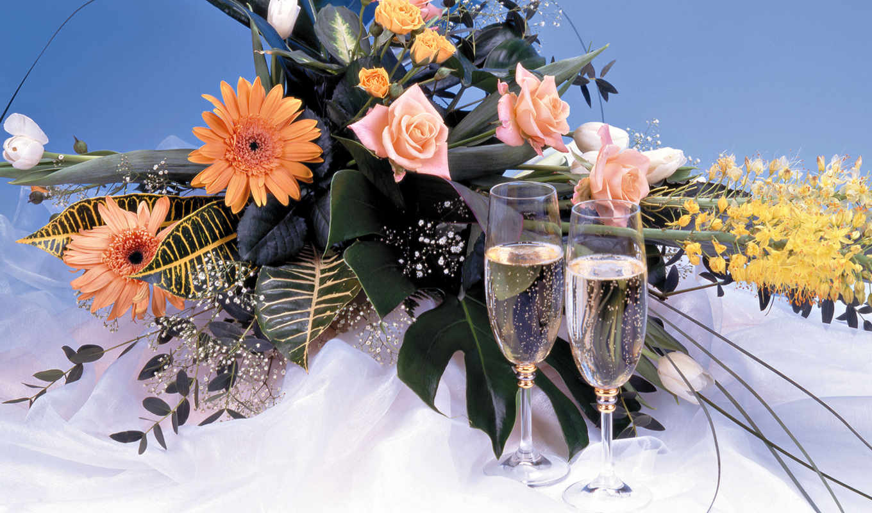 flowers, bouquets, salvează, цветы, шампанское, букет, detalii, часть, за, букеты, но, натюрморты, скачали, photo, бокалы, печать, вторая, праздничные, этикетка, ani, favorit, ti, настроением, вас, mu