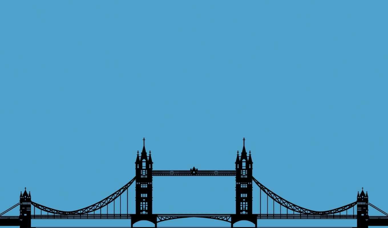 bridge, tower, london, уэрский, та, англия, картинка,