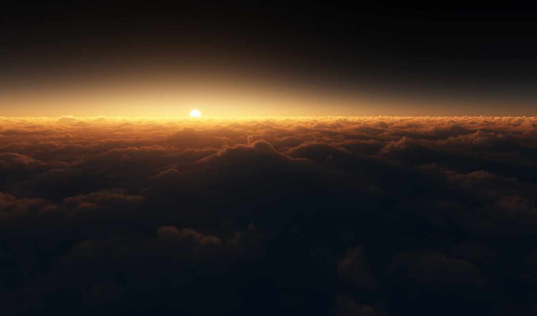 небо, космос, sun, dark, красиво, полет, красивый,