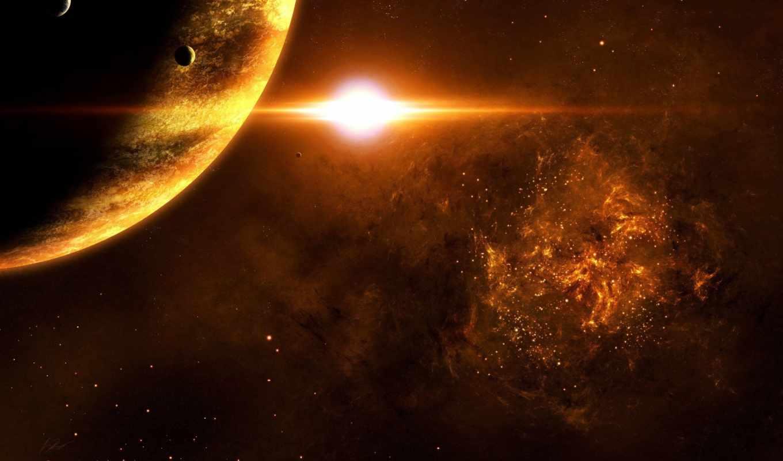 planet, cosmos, звезды, sun, спутник, красивые,